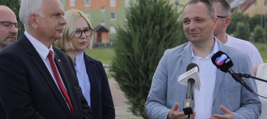 Wiceminister Zdrowia Waldemar Kraska w piątek odwiedził Giżycko