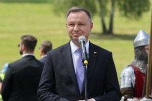 Na Polach Grunwaldzkich Andrzej Duda i Mateusz Morawiecki spotkali się z prezydentem i premierem Litwy [LIVE, ZDJĘCIA]