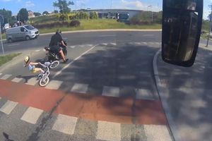 Motocyklista, który potrącił dziewczynkę na rondzie w Olsztynie usłyszał wyrok