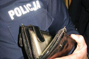 Złodziej ukradł telewizor, ale zostawił swój... portfel