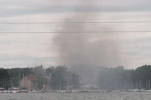 Strażacy ugasili pożar na przystani przy ulicy Słowackiego