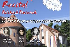 Recital polskich piosenek w Oranżerii Portowej