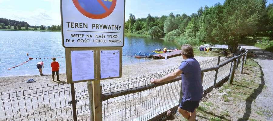 Zagrodzone jezioro Żbik