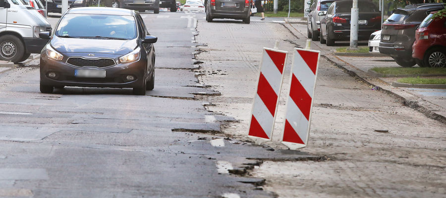 Bruk zamiast asfaltu. W zamian hałas na Mickiewicza w Olsztynie