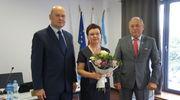 Romana Olszewska wśród zasłużonych dla Mławy