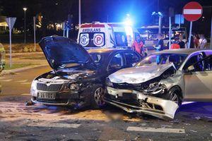 Zderzenie dwóch pojazdów w centrum Olsztyna [ZDJĘCIA]