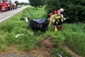 Śmiertelny wypadek w Szymanach. 79-latek zginął na miejscu [ZDJĘCIA]