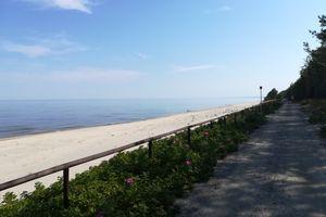 Puste plaże, błękitne niebo i piękna ścieżka rowerowa, czyli wrażenia z przejazdu trasą rowerową R10 [ZDJĘCIA]
