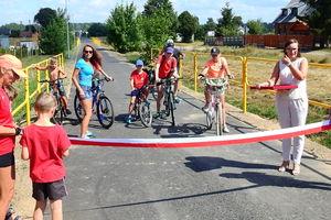 Nowy odcinek ścieżki w Lipowcu ku uciesze rowerzystów