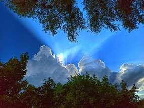Niebo nad Bartoszycami.