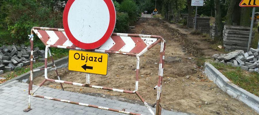Remont ulicy Partyzantów w Bartoszycach