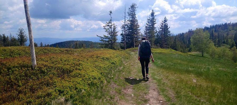 Barbara zdecydowała się samotnie pokonać górski szlak