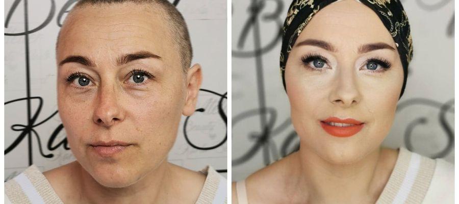 Pani Monika przed i po metamorfozie