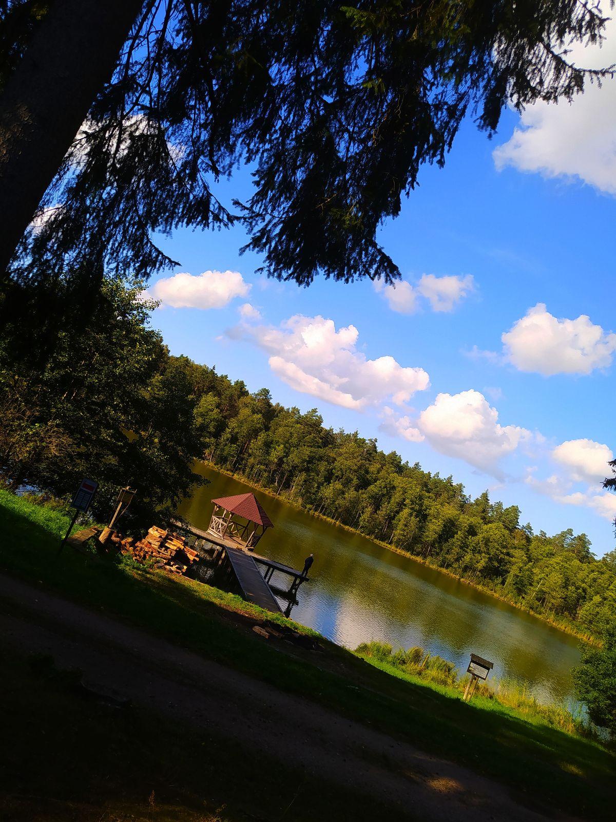 Jezioro Gilgajny koło Dobrego Miasta