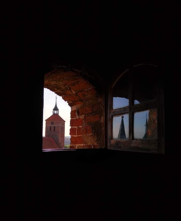 Na zamkowej wieży w Reszlu