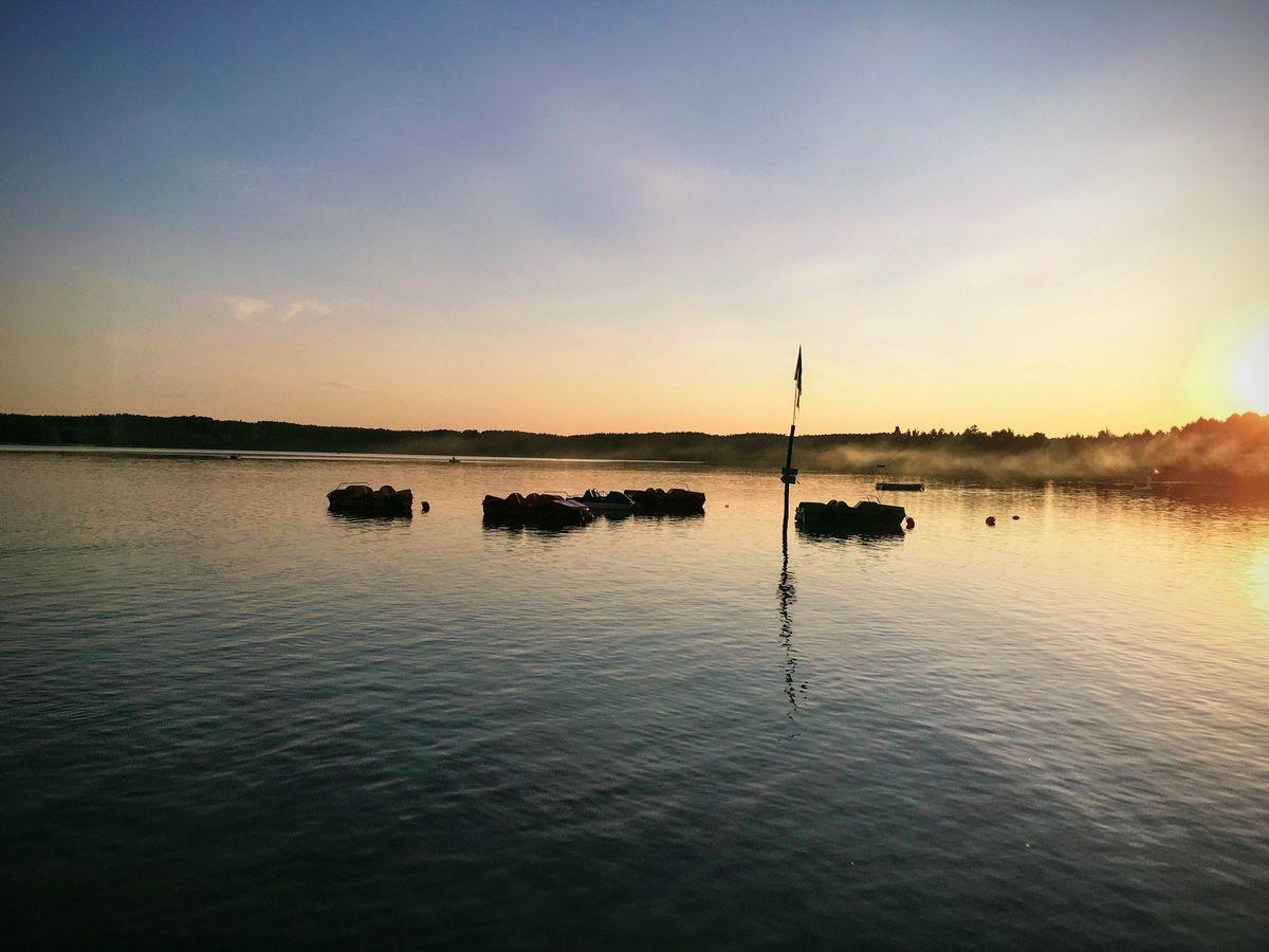 Jezioro Świętajno: zachód słońca