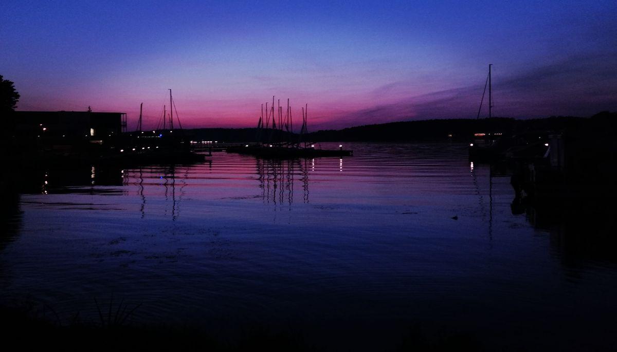 Przystań nad jeziorem Ukiel