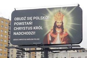 Jezus w koronie na billboardzie w Olsztynie. Co to za akcja?