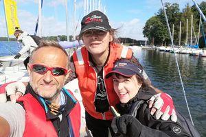 W ostatnich zawodach wskoczył na podium żeglarskiego Pucharu Polski