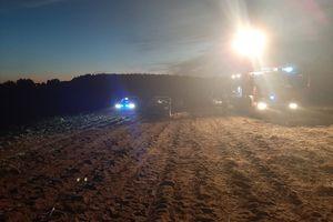 Motoparalotnia spadła na pole. Zginął 63-letni mężczyzna