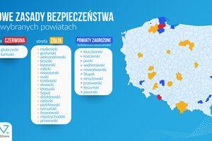 Dwa powiaty z Warmii i Mazur trafiły do żółtej strefy