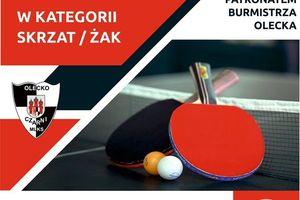 Tenisiści stołowi będą w Olecku walczyli o mistrzowskie tytuły