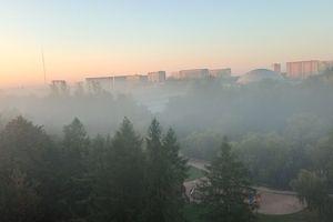Wymień zdjęcie na prenumeratę: Olsztyn we mgle
