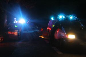 W Prątnicy zderzył się ciągnik z beczkowozem i motocykl