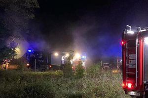 Pożar domu w Gorzekałach