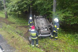 Wypadek na trasie Ostróda - Olsztyn