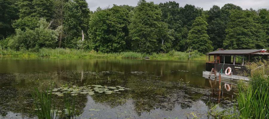Stanica wodna na rzece Łynie w Stopkach (gm. Sępopol)