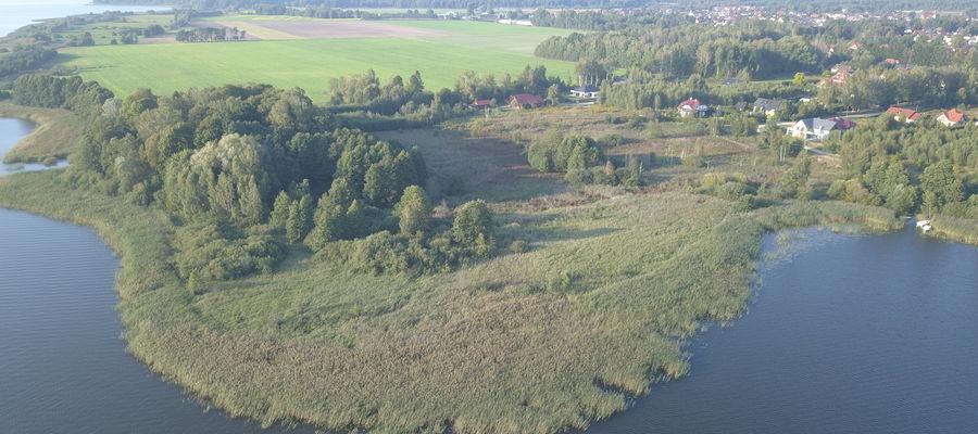 Działka nad Drwęckim, na której ma powstać inwestycja