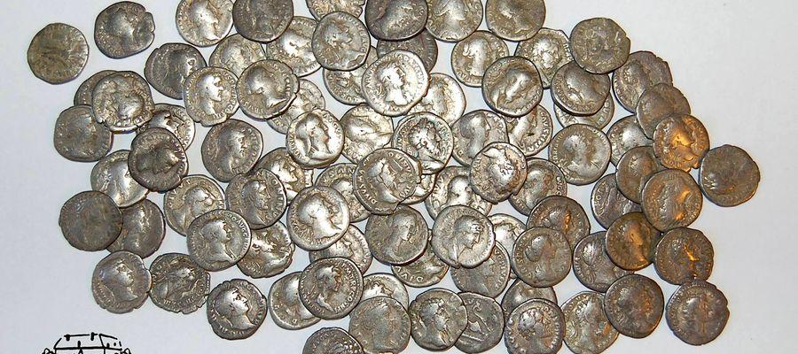 Skarb z Półwsi liczy 104 monety, stanowisko zostało objęte sondażowymi badaniami archeologicznymi, którymi kierował Łukasz Szczepański