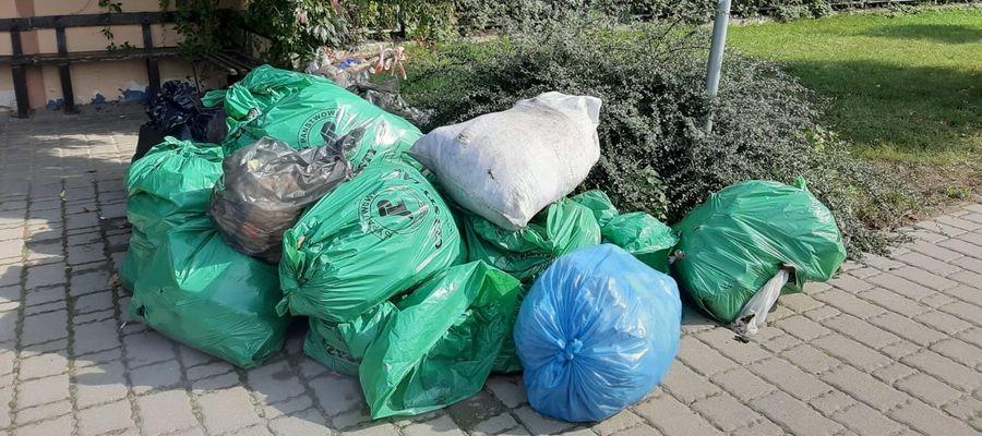 Worki ze śmieciami przy przystanku leża od ponad tygodnia