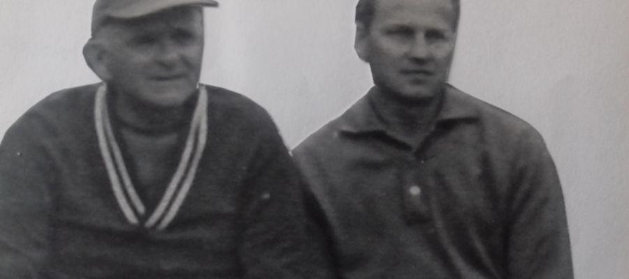 Feliks Stamm (w czapeczce) i Otto Tuszyński, 1968 rok.