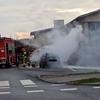 Pożar audi na ulicy Warsztatowej [foto]