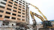 Trwa rozbiórka olsztyńskiego hotelu Gromada [FOTORELACJA]