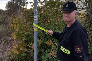 #BadzWidocznyChallenge. Wraca odblaskowa akcja strażaków z Bartąga