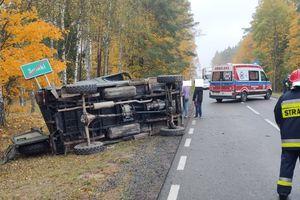 Wypadek w Sumkach. Jedna osoba trafiła do szpitala
