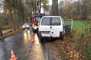 Jedna osoba ranna w wypadku pod Olsztynem