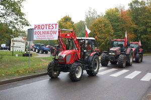 Rolnicy z trzech powiatów protestowali na