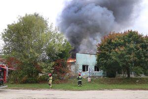 Kłęby dymu nad miastem. Z ogniem walczyło kilka zastępów straży [ZDJĘCIA, VIDEO]