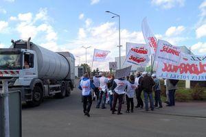 Tak wyglądał strajk w olsztyńskim ZGOK