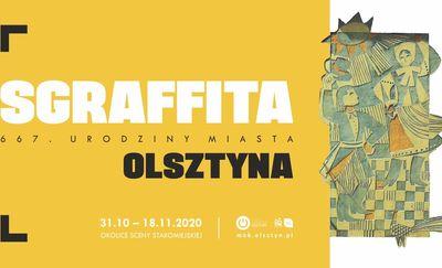 Wspólne podziwianie olsztyńskich sgraffit
