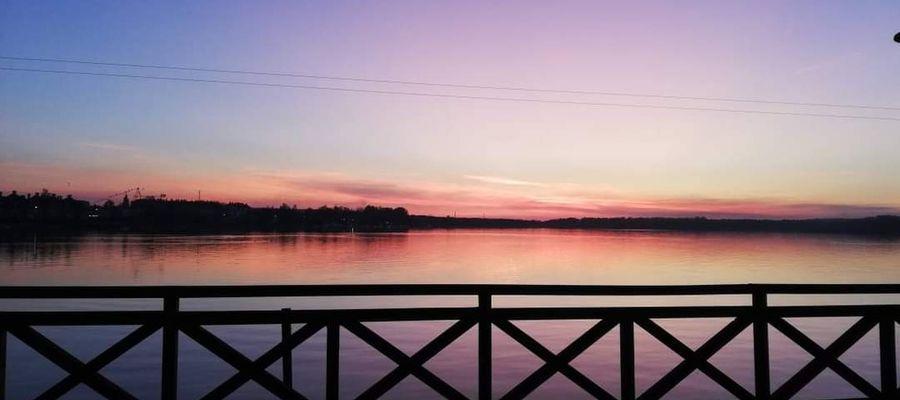 Nabrzeże jeziora Drwęckiego w Ostródzie