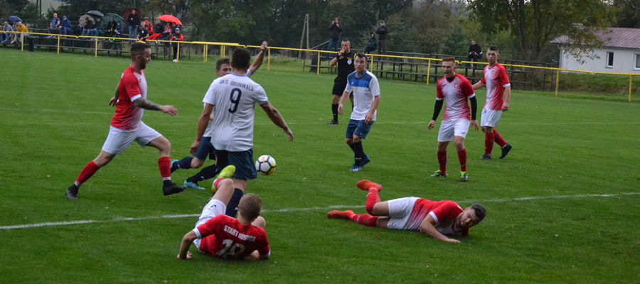 Po pierwszej połowie Grunwald prowadził 1:0, ale po przerwie stracił trzy gole i przegrał