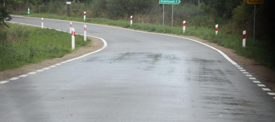 Wyremontowana i oficjalnie otwarta we wrześniu tego roku droga powiatowa Dęby — Toprzyny w gminie Górowo Iławeckie
