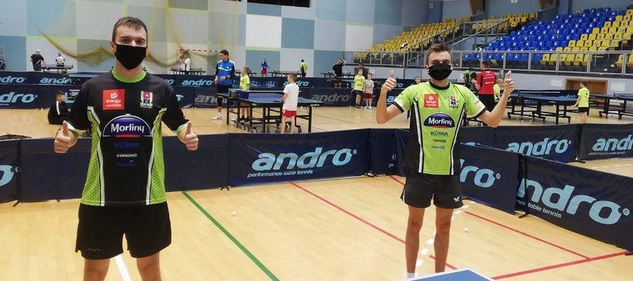 Ostródzcy tenisiści stołowi dbają o swoje zdrowie i życzą go innym sportowcom
