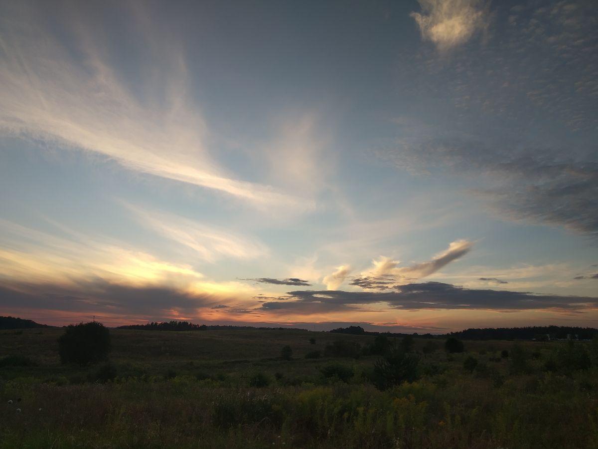 Zachód słońca nad Barczewem