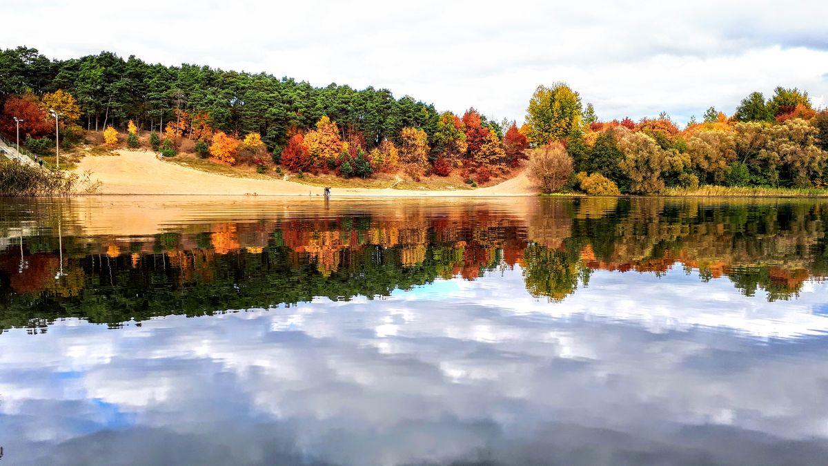 Jezioro Sajmino w Ostródzie